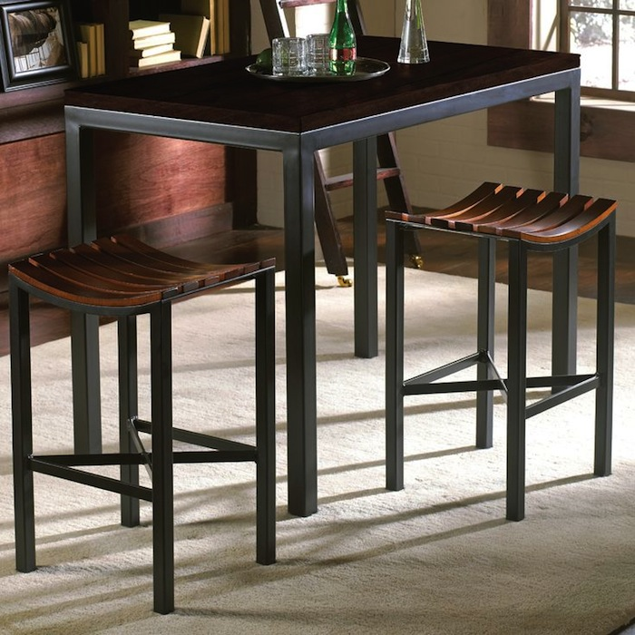 Pub tables in the kitchen artisan crafted iron for Pub style kitchen table