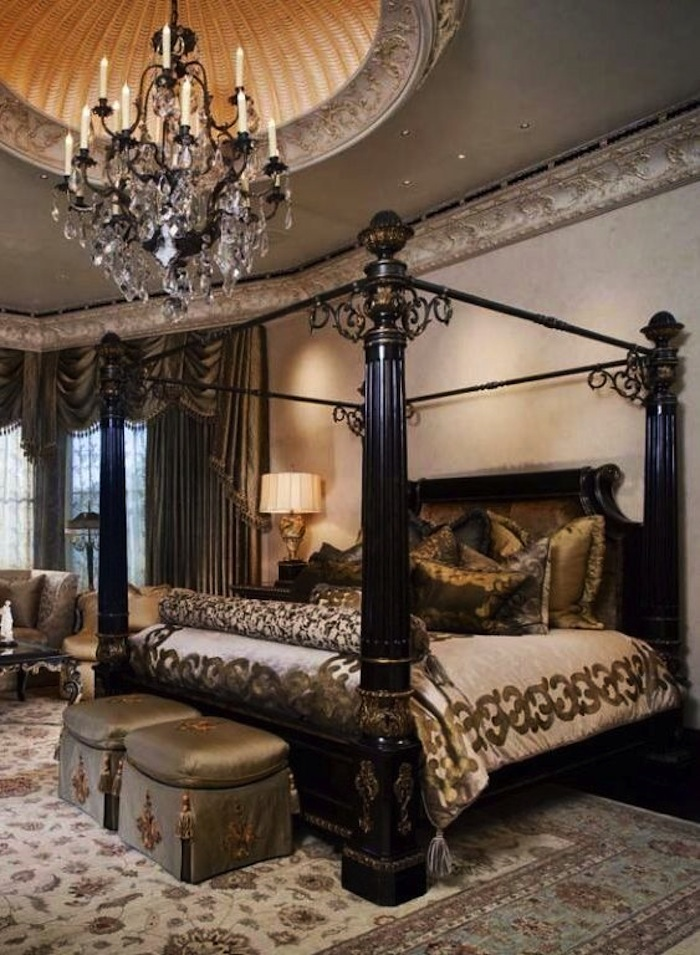 Inviting old world style bedrooms for Old world style beds