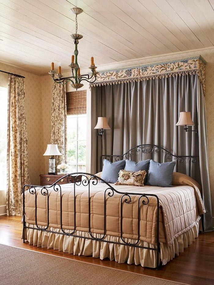 Inviting old world style bedrooms artisan crafted iron for Old world style beds