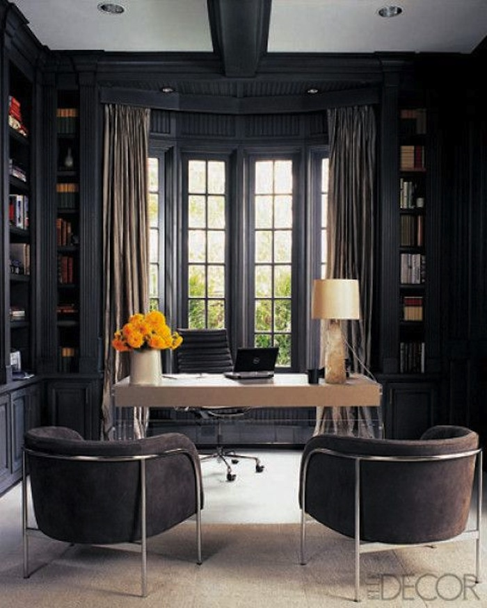 Incroyable Grays Are Beautiful In This Contemporary Home Office Set In A Gorgeous  Classic Architectural Setting.