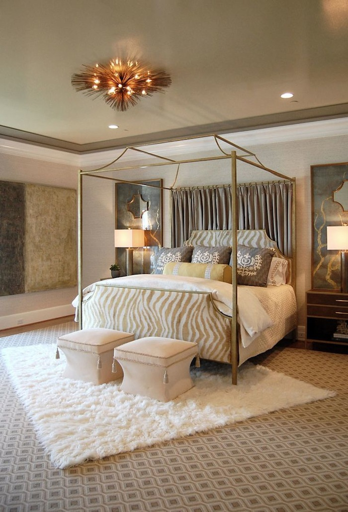 Bedroom Decorating Ideas Wrought Iron Bed