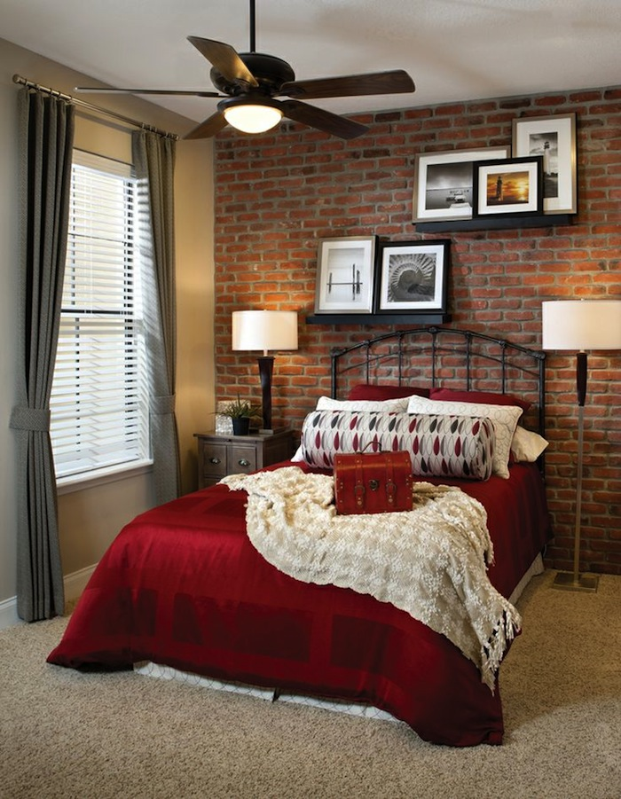 brick bedroom rustic brick and looks great in the bedroom 7940