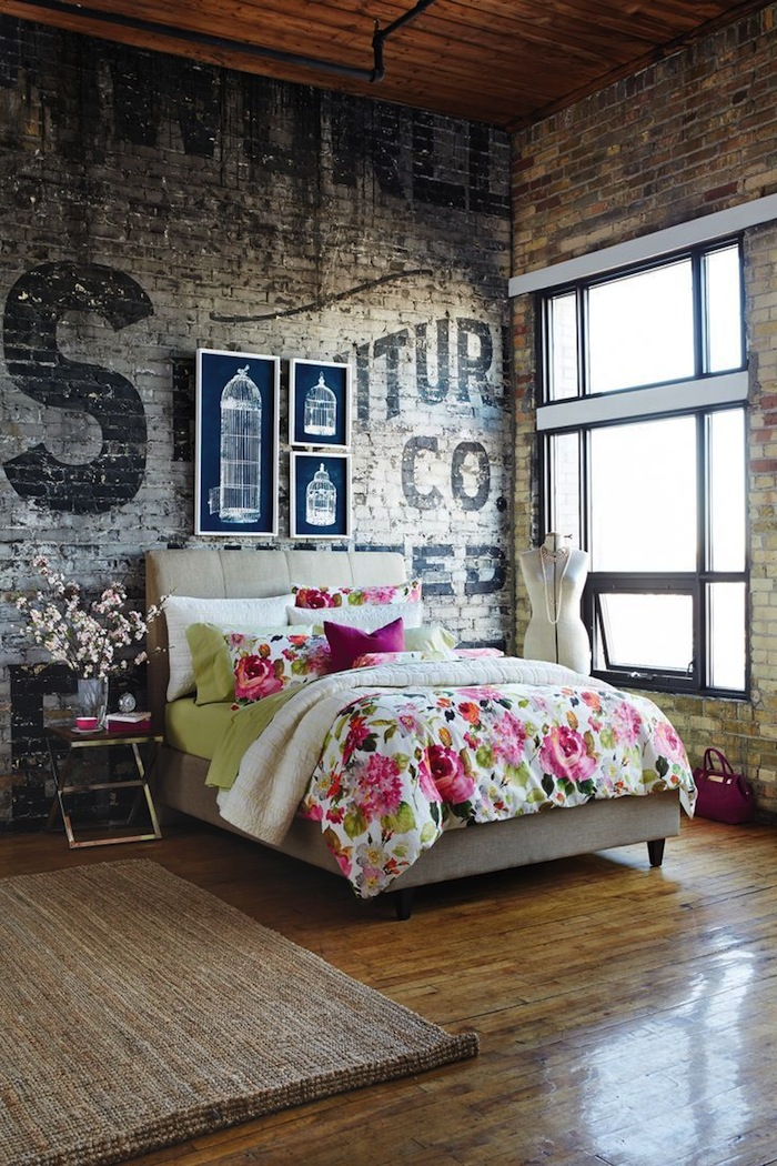 brick bedroom rustic brick and looks great in the bedroom 7830