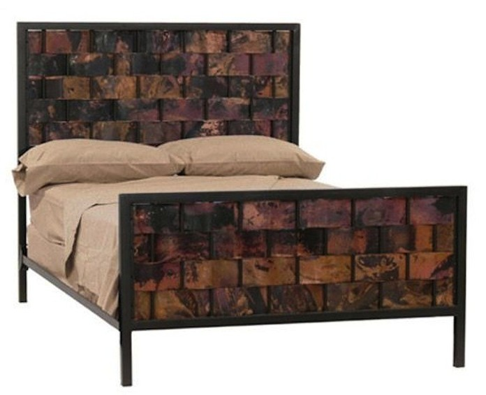 Iron and Copper Headboard