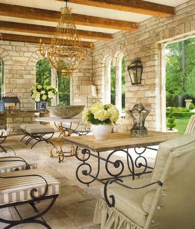 Rustic Meets Stylish in Outdoor Spaces : 5 Rustic Outdoor Spaces from blog.timelesswroughtiron.com size 650 x 763 jpeg 177kB