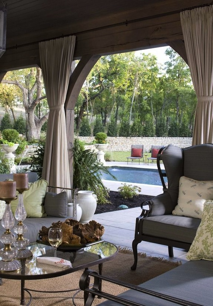 Rustic meets stylish in outdoor spaces - Covered outdoor living spaces ...