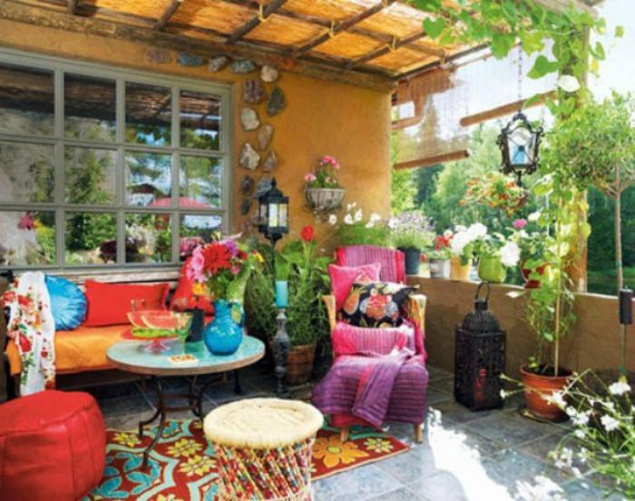 Happy Home: Colorful Terrace & Patio Ideas | Artisan ... on Colorful Patio Ideas id=98161