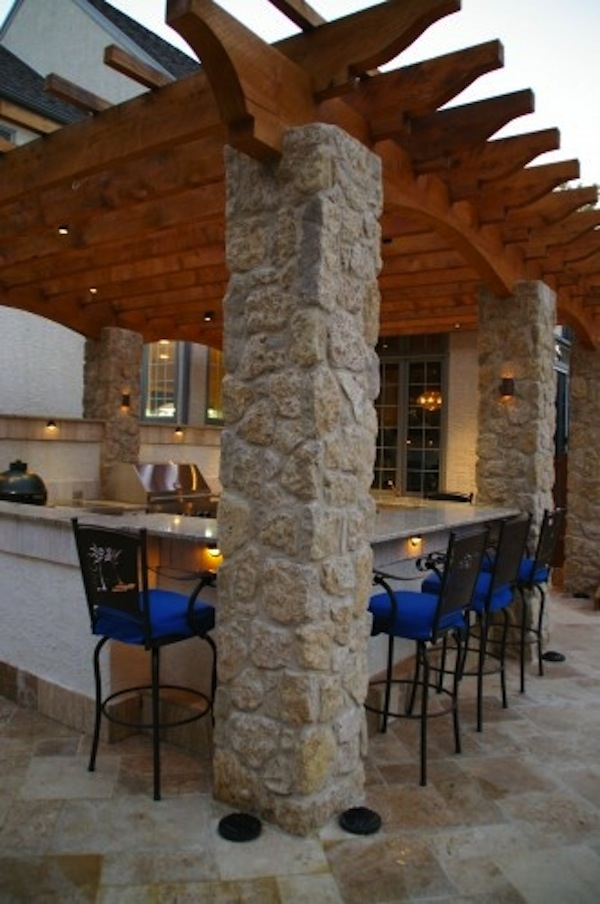 Awesome Outdoor Kitchens With Bars Artisan Crafted Iron