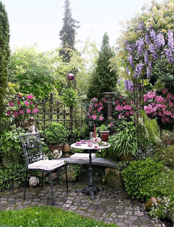 Outdoor Bistro Chairs Dining in the Garden Artisan Crafted Iron