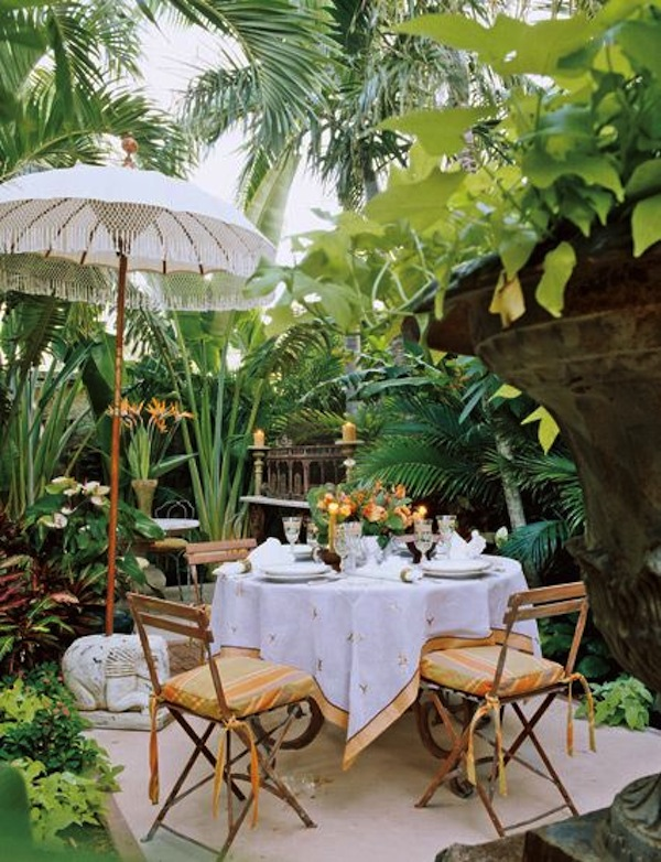 Outdoor Bistro Chairs Dining In The Garden