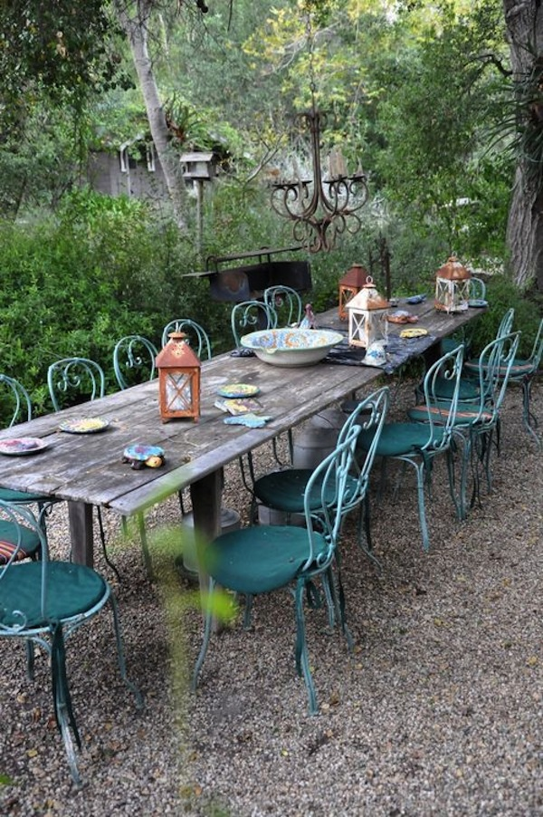 Long Table with Bistro Chairs