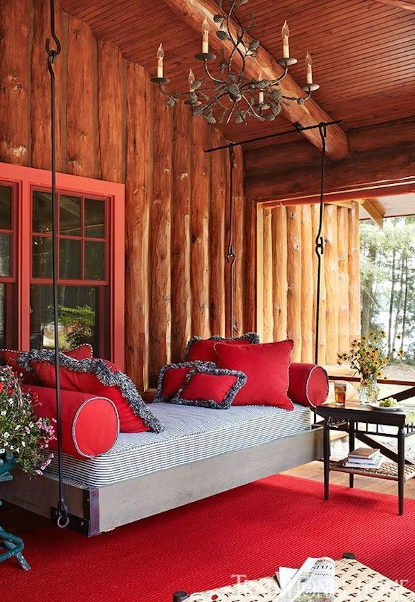 Porch Swing Red