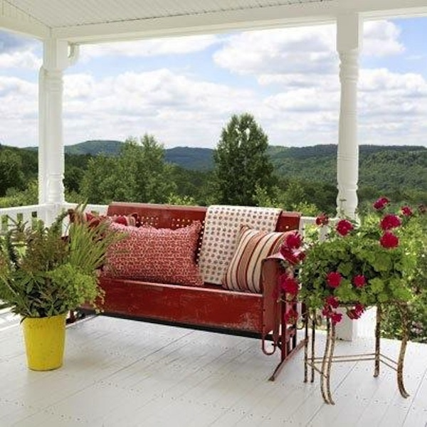 Awesome About Vintage Outdoor Gliders Artisan Crafted Iron Bralicious Painted Fabric Chair Ideas Braliciousco