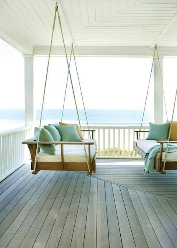 Porch Swings by the Sea