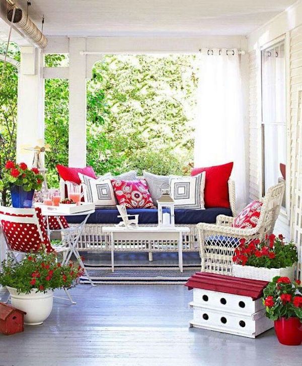 Red, White & Blue Porch